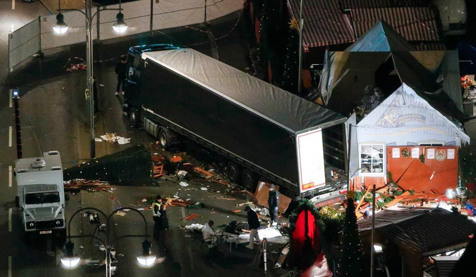 Image result for Truck Ploughs Through Christmas Market In Berlin Killing