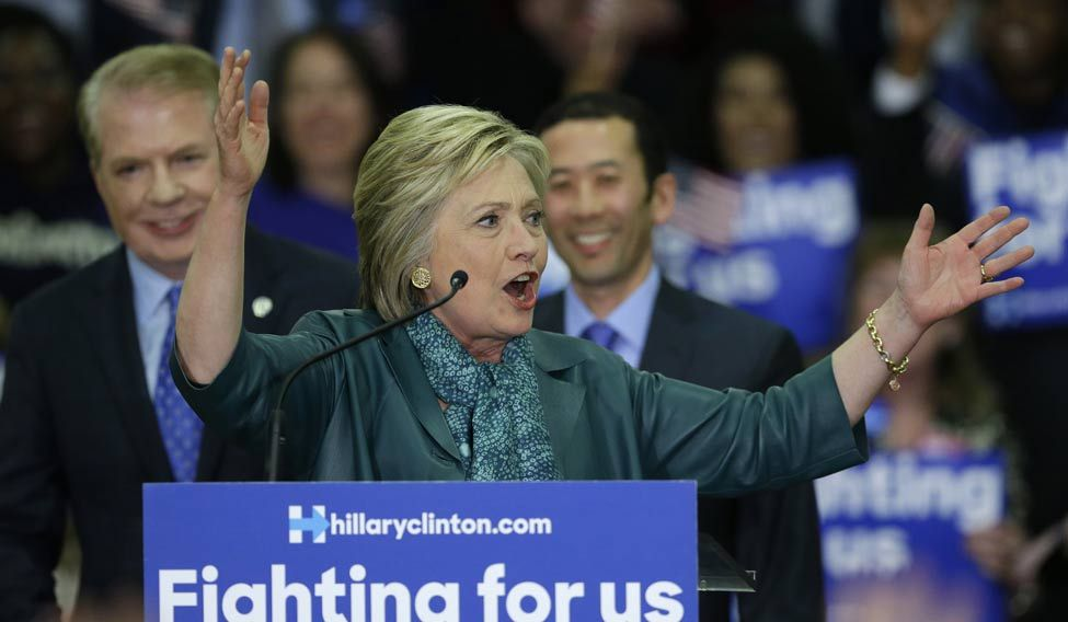 Clinton-Seattle-AP