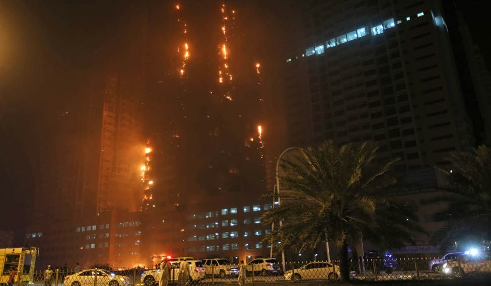 UAE-Fire-Building