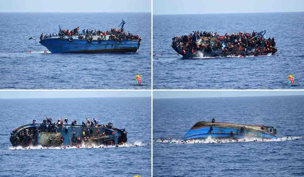 TOPSHOT-ITALY-REFUGEE-IMMIGRATION-SHIPWRECK-RESCUE-COMBO