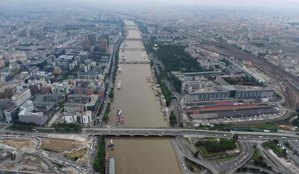FRANCE-WEATHER-FLOOD-AERIAL