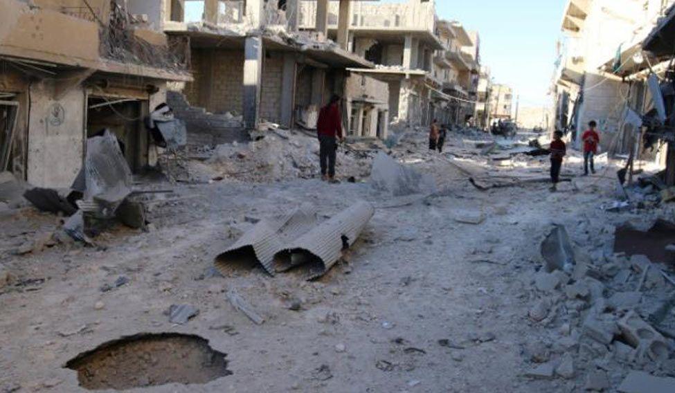 Aleppo-air-strike