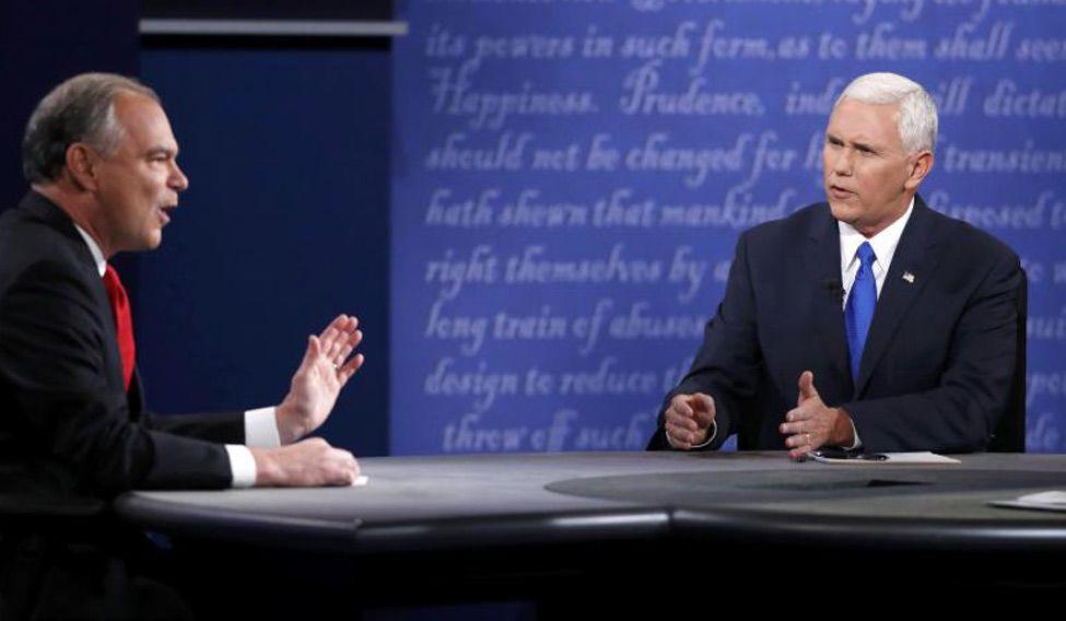 Republican Pence narrowly beats Kaine in vice presidential debate