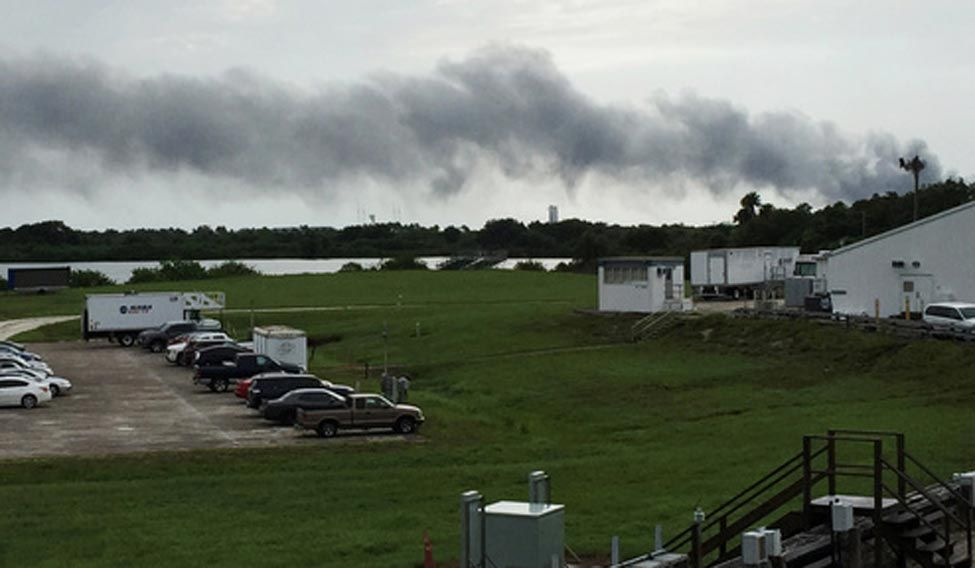 Explosion at SpaceX launch site at Cape Canaveral