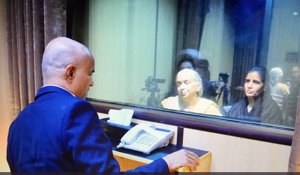 Jadhav meets kin, outrage at Pak's media spectacle
