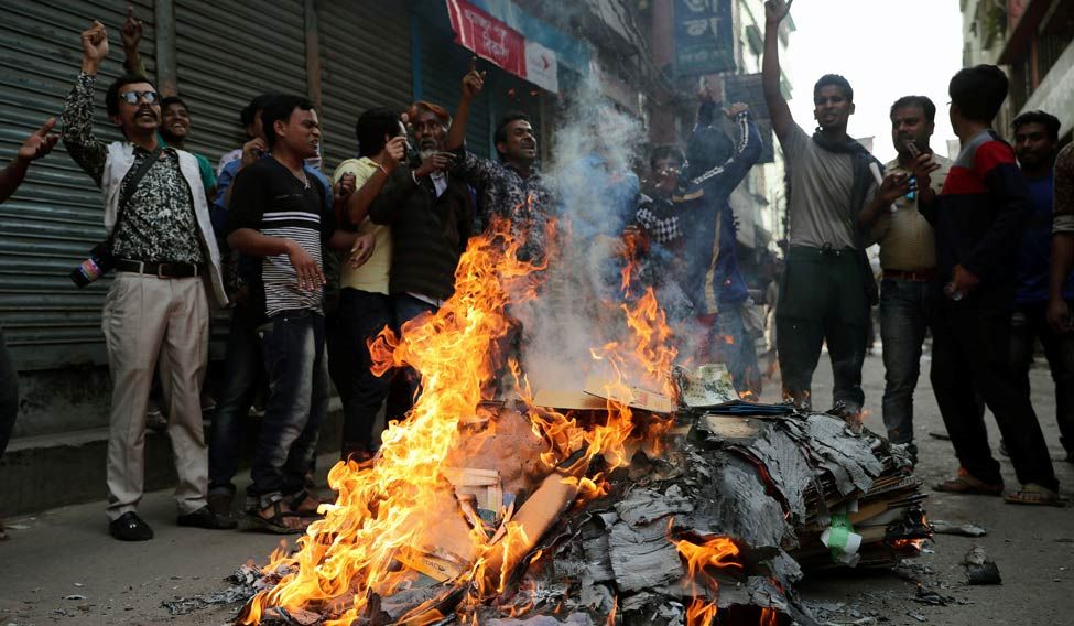 Violent protests in B'desh after Khaleda Zia verdict