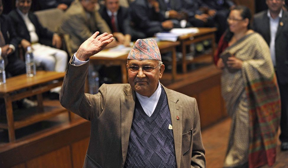 KP Sharma Oli appointed Nepal's new prime minister