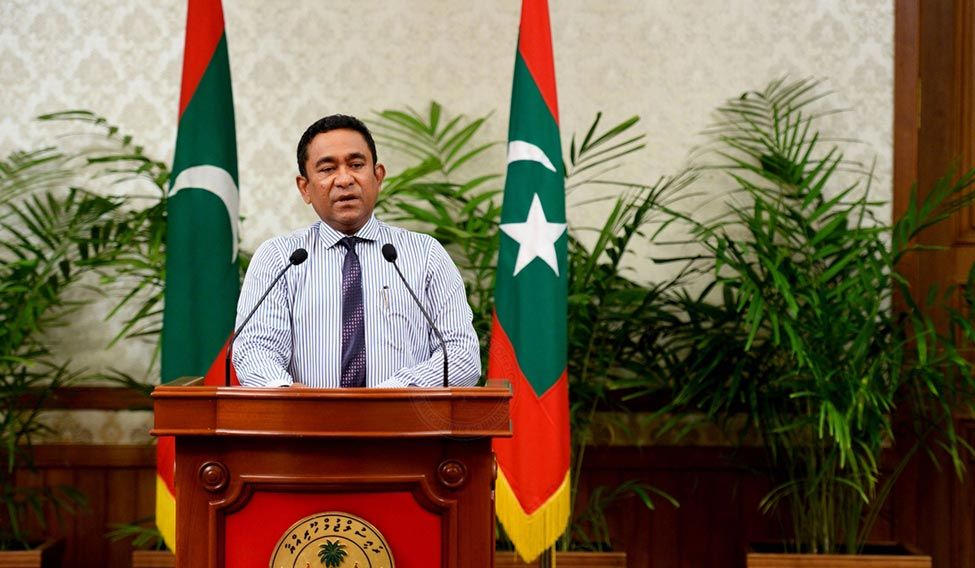 China says it is against external intervention in Maldives