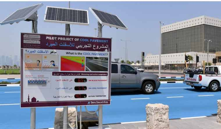 Qatar joins club of countries that are cooling their roads