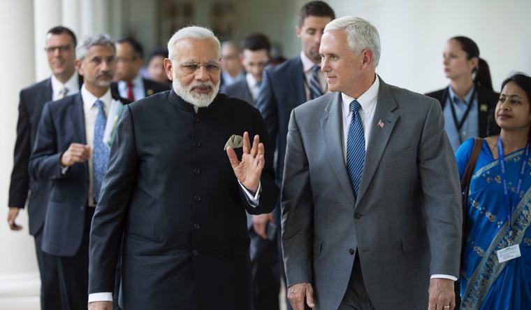 Modi, Pence in 2017