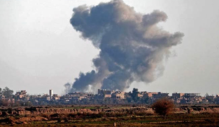 US-led coalition says it destroyed IS site in Syrian mosque