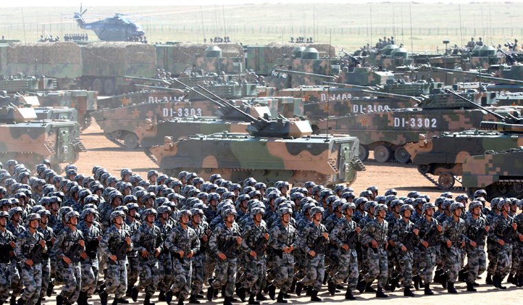 chinese soldiers reuters