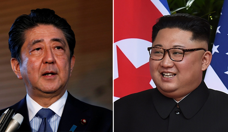 Japan eyeing Abe-Kim summit with possible Pyongyang visit