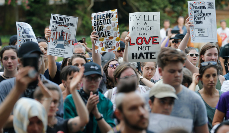 Hundreds gather in Charlottesville one year after Unite the Right rally