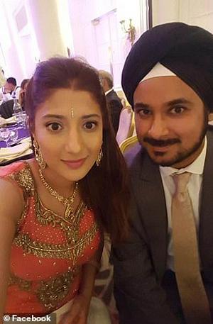 Mundill Mahil with husband Virender Singh Bola