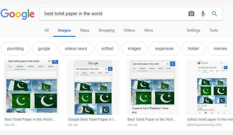 Pakistan flag 'the best toilet paper in the world' according to