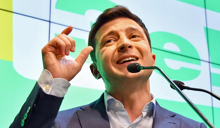 Ukraine elects former comedian Volodymyr Zelensky, as president