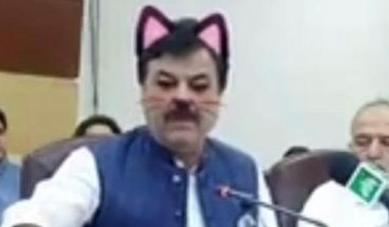 Pakistan ministers go on Facebook live with cat filter on