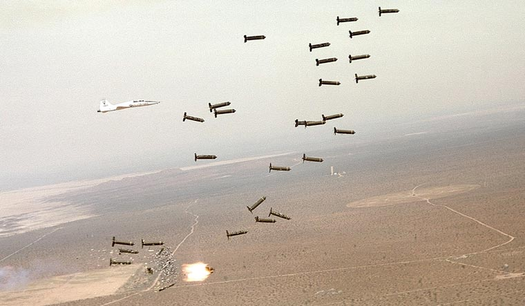 cluster bomb test