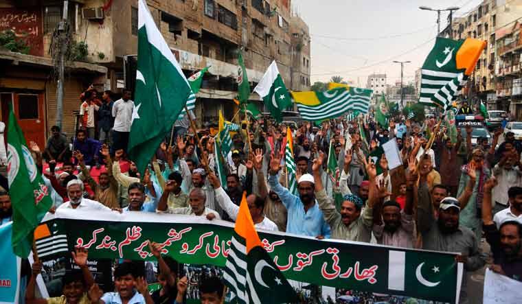 anti-india protest in Karachi AFP