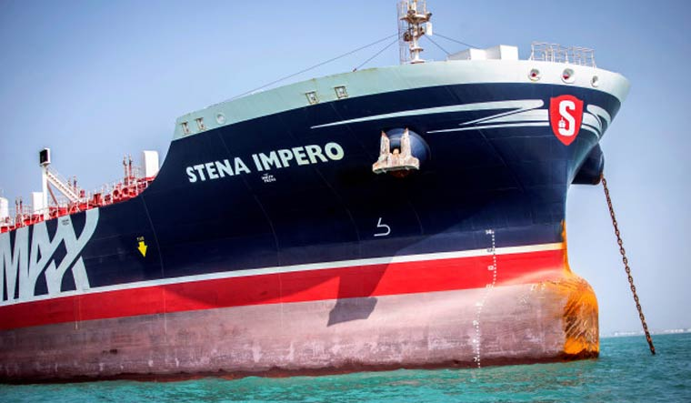 Flagged Oil Tanker Stena Impero Departs Iran's Bandar Abbas Port