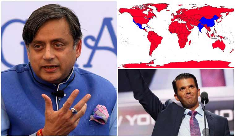 Tharoor Calls Trump Jr S Electoral Map Projection The Price Of Namo S Bromance The Week