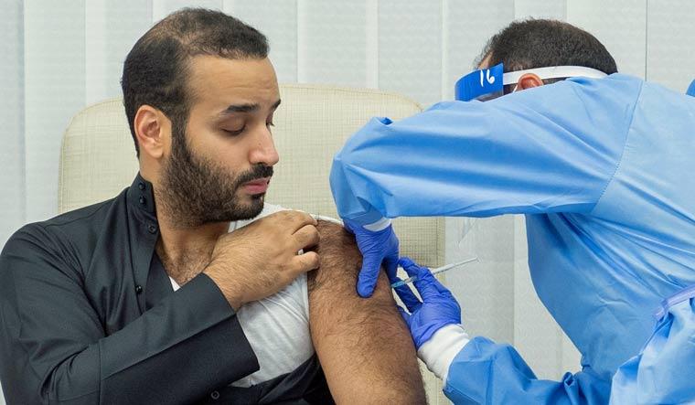 Saudi Crown Prince Mohammed Bin Salman gets his Covid 19 first jab