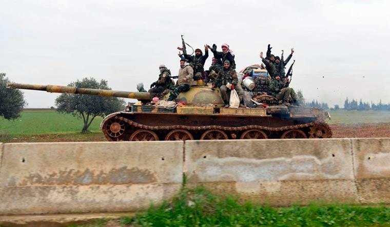 Syrian-army-m5-aleppo-Sana-AP