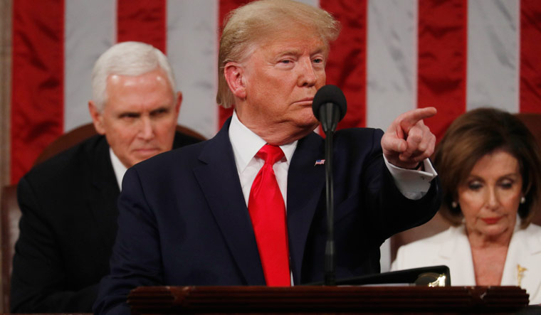 Trump state of the union gestures reuters