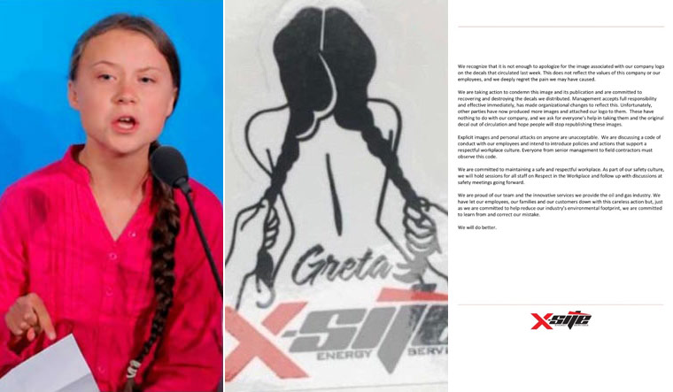 Thunberg says sexually explicit decal shows desperation, says activists are winning