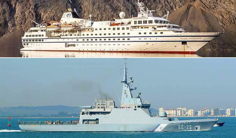 (Top) The RCGS 'Ice Class' RCGS Resolute, (Bottom) TheGuaicamacuto-classNaiguatá | One Ocean Expeditions, Instagram,Luis García Curado, Cádiz