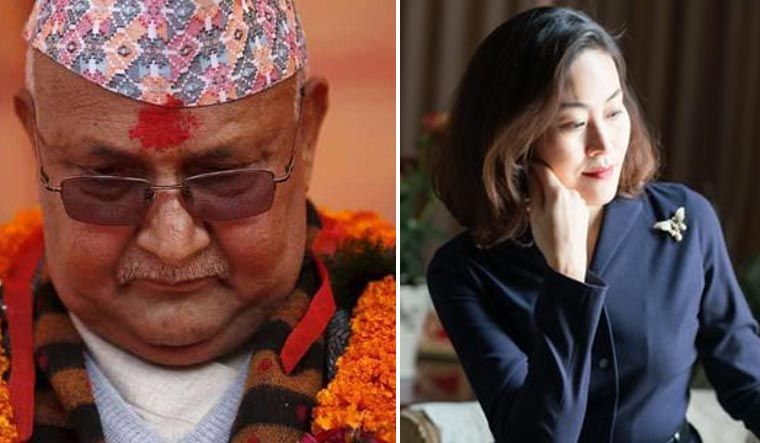 Nepal-PM-KP-Ol-Chinese-Ambassador-Hou-Yanqi-Reuters-Twitter