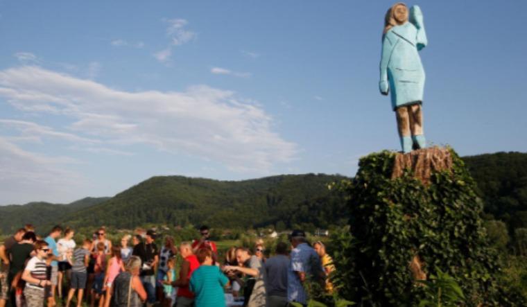 Melania Trump Statue Burnt Down In Slovenia The Week