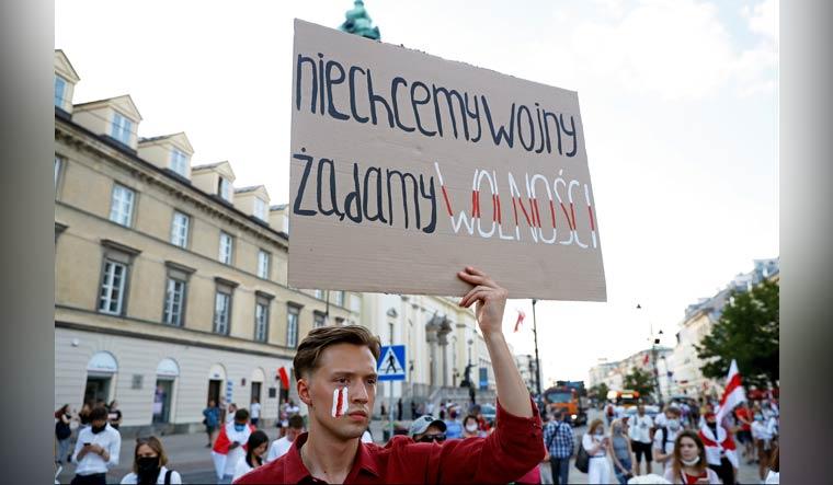 BELARUS-ELECTION/POLAND-MARCH