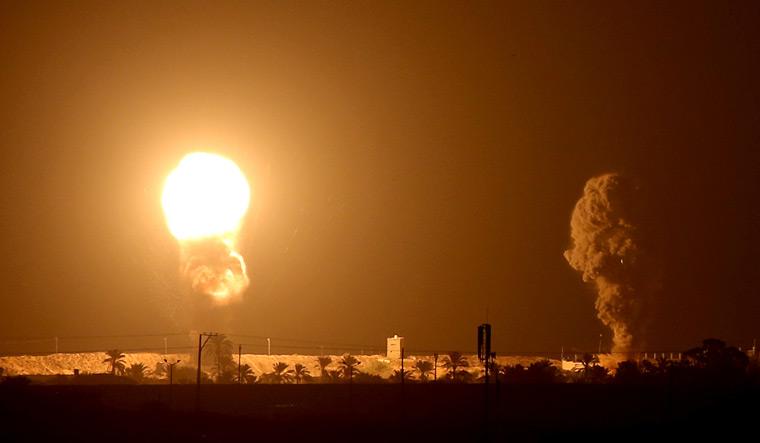 Israel-airstrike-Gaza-explosion-Reuters