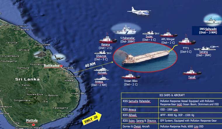 Indian-Coast-guard-oil-tanker-spill-sri-lanka-Twitter