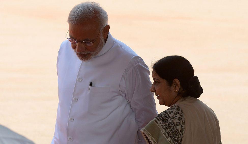 Sushma Swaraj and Modi