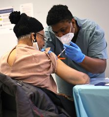 Covid-19 vaccination drive in Brooklyn, New York | AFP