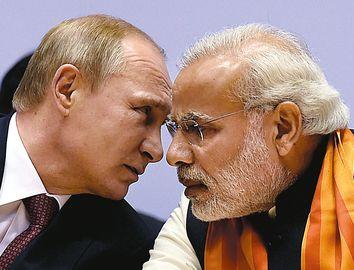 Prime Minister Narendra Modi and Russian President Vladimir Putin | PTI