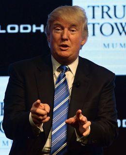 Trump at an event in Mumbai during his 2014 visit | AFP