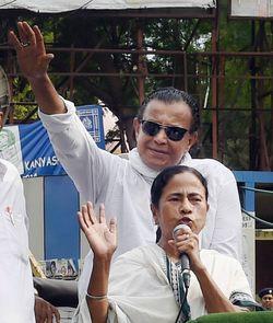 A file picture of Mamata Banerjee with Mithun Chakraborty   PTI