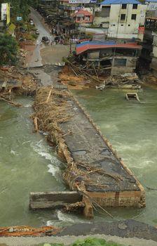 Collapsed Cheruthoni Bridge in Idukki District | Aravind Bala