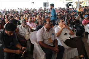 The audience during a session at the kerala literature festival, 2019