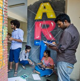 Students of college of Art, Delhi | Sanjay Ahlawat