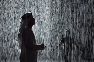 The rain room, Al Majarrah, Sharjah/ photo courtesy Sharjah Art Foundation