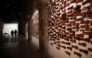 G.R. Iranna's installation at the India pavilion, venice biennale/AP