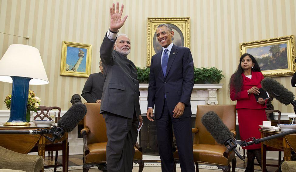 Modi with President Obama