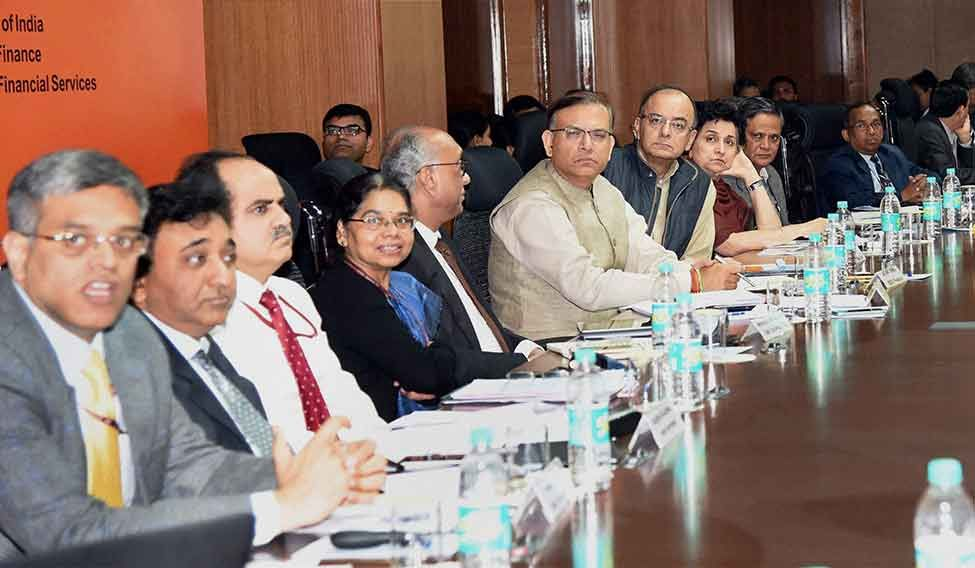 Tough run: The quarterly review meeting of the chairmen and managing directors of public sector banks in Delhi
