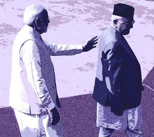 Narendra Modi and Khadga Prasad Oli