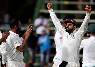 Aggression personified: Indian captain Virat Kohli celebrates after winning the third Test against South Africa at the Wanderers | AP